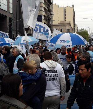Protesta de trabajadores de Vialidad Nacional