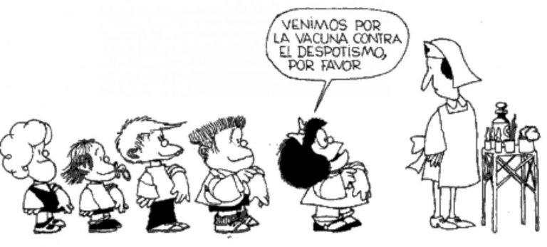 Cuatro momentos de Mafalda sobre las elecciones