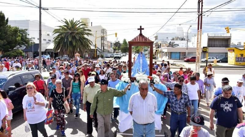Caleta Olivia prepara los 40 años de la llegada de la Virgen del Valle