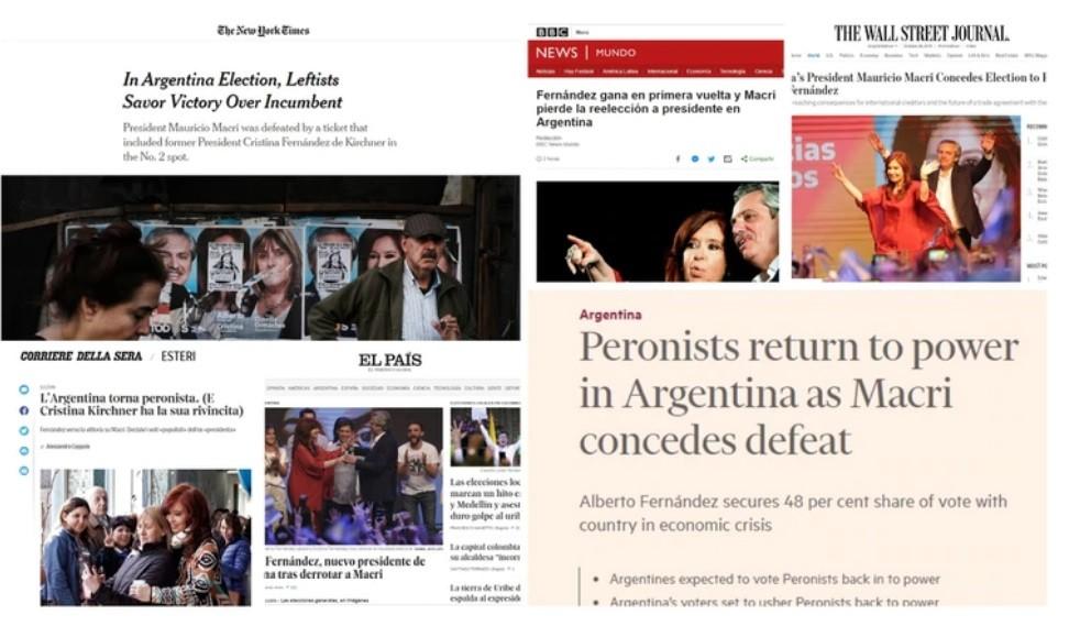 Medios internacionales reflejaron la victoria de Alberto Fernández en las elecciones argentinas