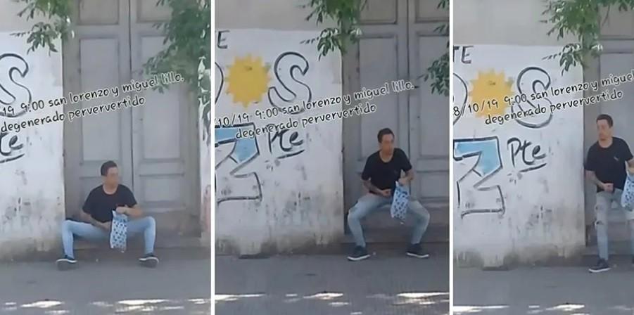 Viralizan la imagen de un pervertido que se masturbaba frente a una Facultad