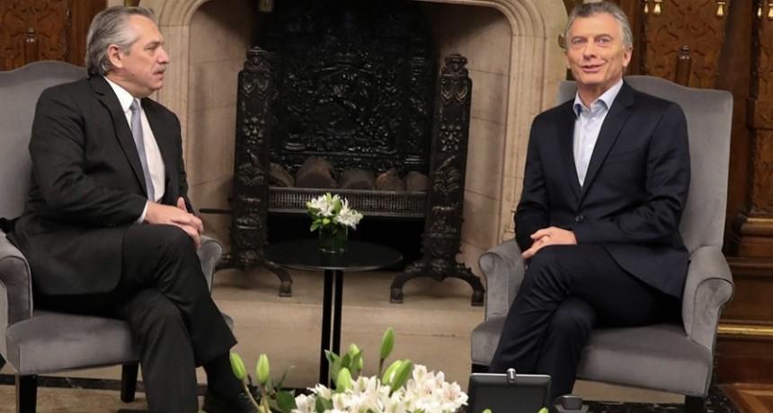 Reunión: Fernández y Macri acordaron una transición ordenada
