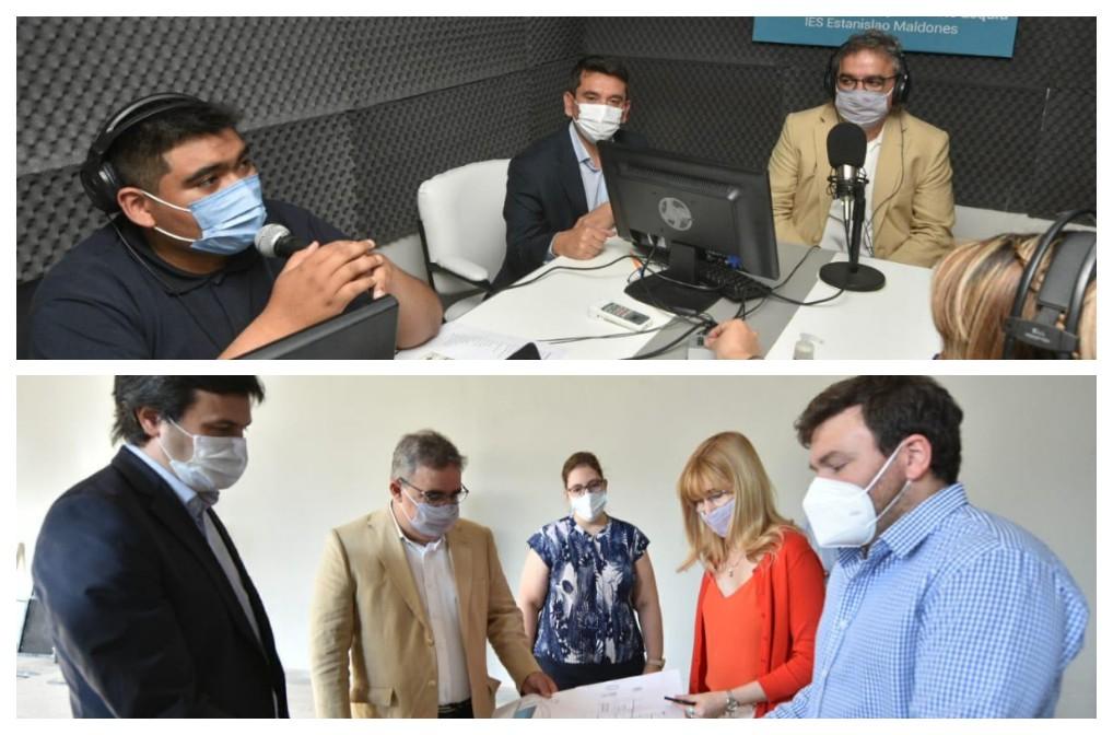 Jalil recorrió el nuevo 911 e inauguró  radio en Fray Mamerto Esquiú