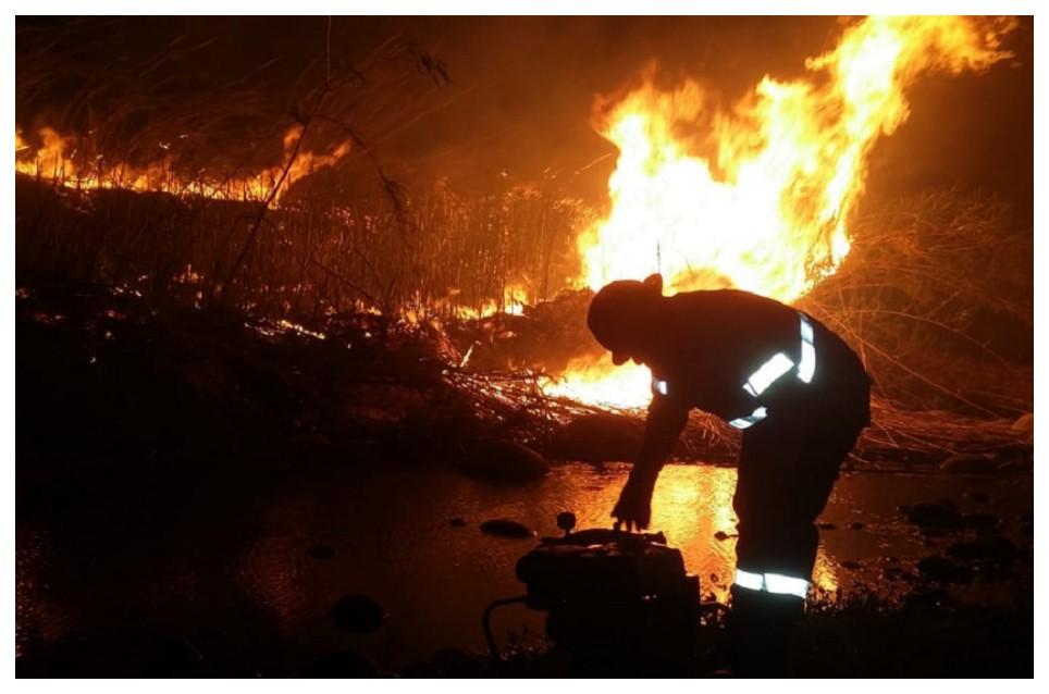 Controlan rápidamente incendios en Banda de Varela y Ancasti