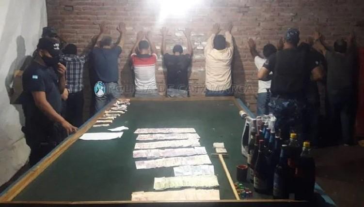 Arrestaron a 14 personas que fueron sorprendidas en juegos de azar