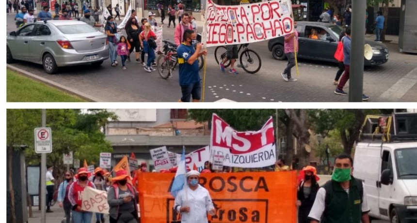 Jornada de protesta en el centro de la capital