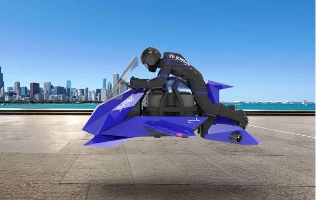 Vehículos del futuro: la primera moto voladora fue probada con éxito