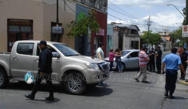 Accidente de circulación en pleno centro no hubo heridos