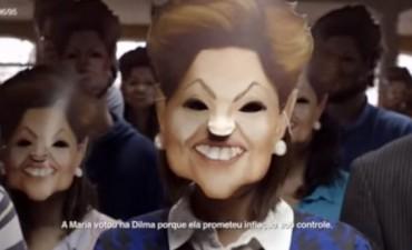 El nuevo spot de Scioli, para criticar a Macri es idéntico a un video contra Dilma Rousseff en Brasil