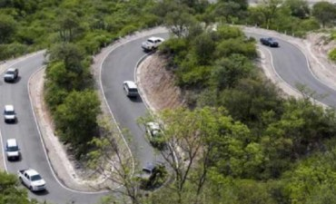 Lucía Corpacci inauguró la nueva ruta de la Cuesta de Los Ángeles