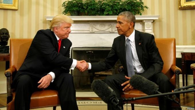 Presidente electo en su primera visita a la Casa Blanca