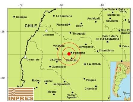 Sismo en La Rioja y Tinogasta