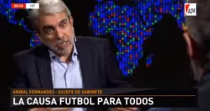 Aníbal se defendió de la imputación por Fútbol para Todos: