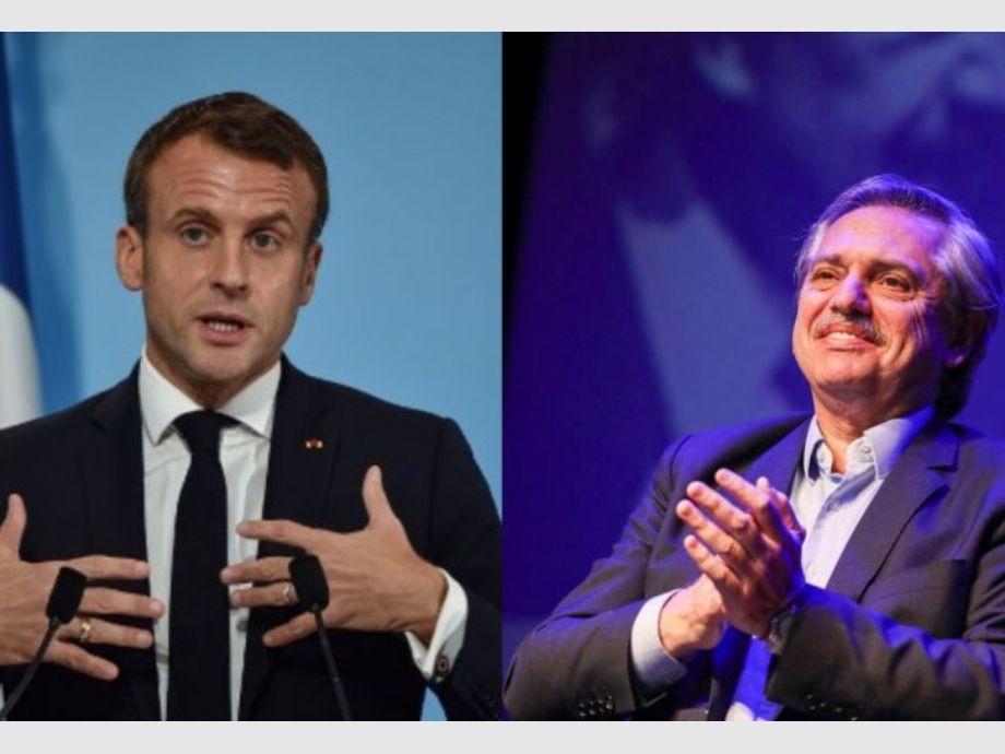 Macron llamó a A. Fernández: coincidieron en seguir desarrollando lazos comerciales