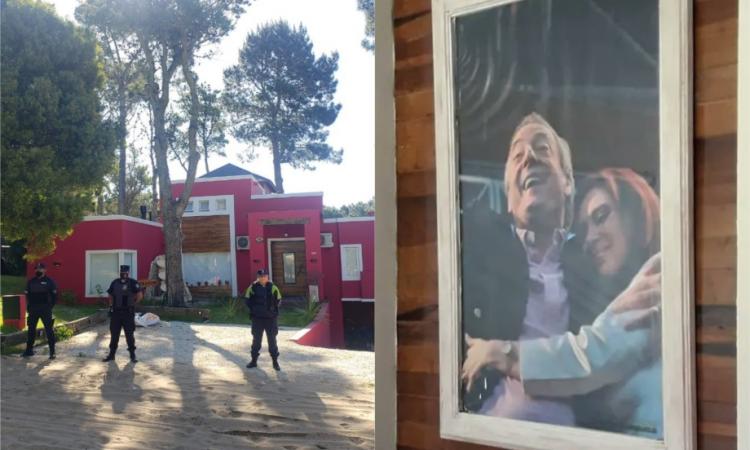 Casa tomada en Cariló: la usurpó un testaferro de Rudy Ulloa y colgó cuadros de Néstor y CFK