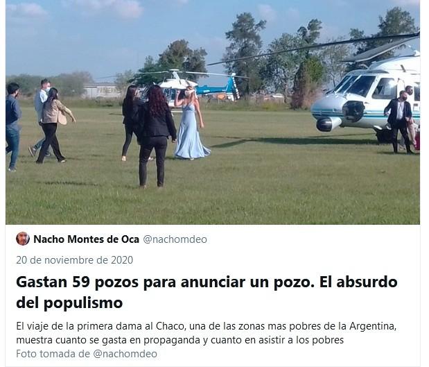 Durísimas críticas a Fabiola Yáñez por la puesta en escena de su visita a Chaco