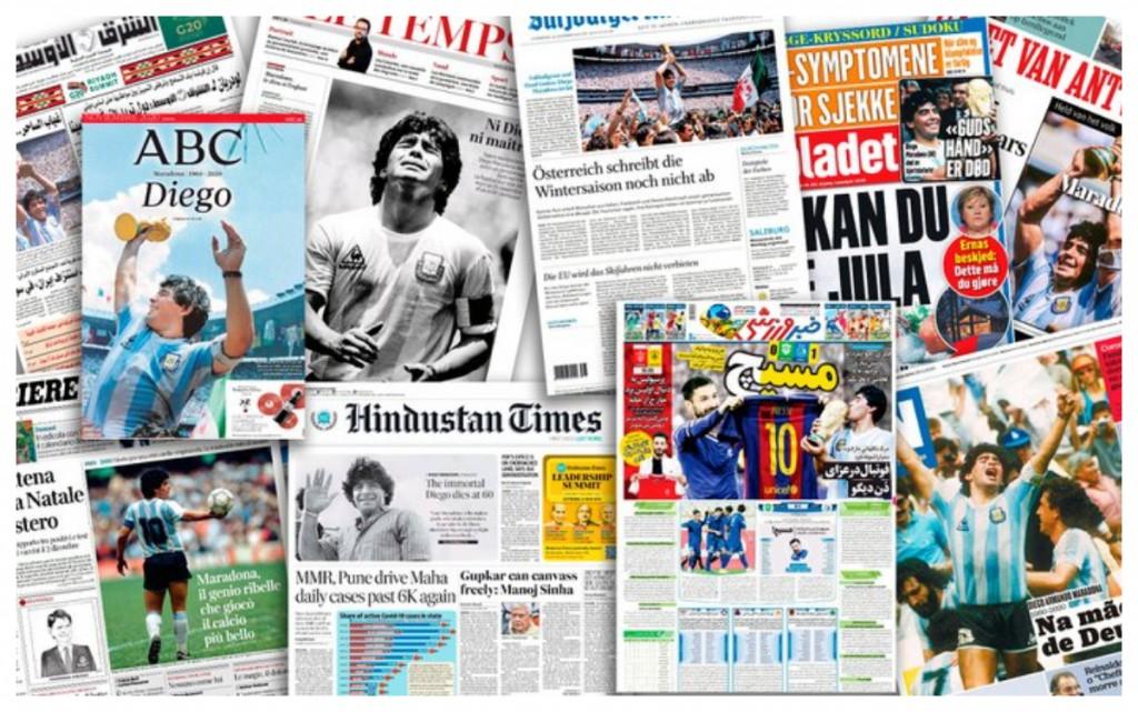 Así despidieron los diarios del mundo al 'D10S' del fútbol