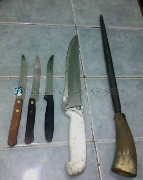 Tras allanamiento policias fueron atacados con cuchillos