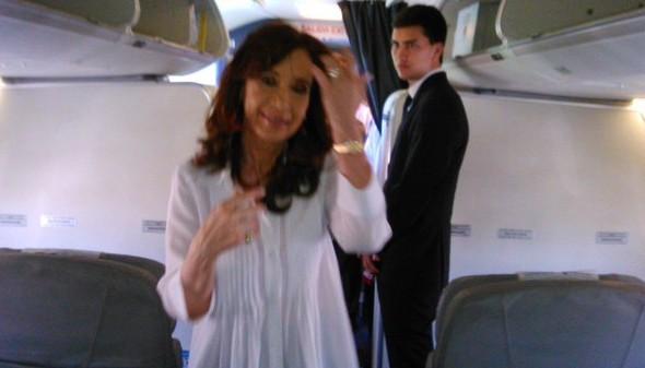 Cristina y Máximo viajaron a Río Gallegos en clase Turista
