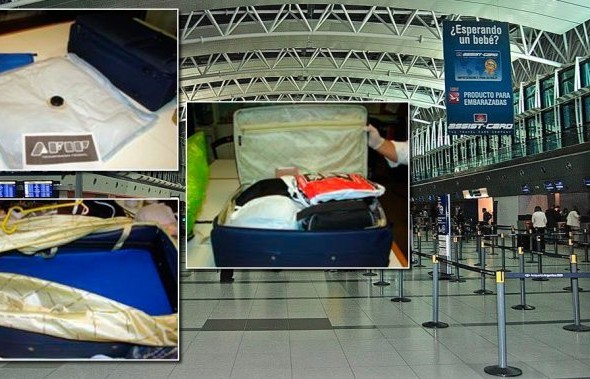 Hallan más de 8 kilos de cocaína líquida ocultos en el doble fondo de una valija en Ezeiza