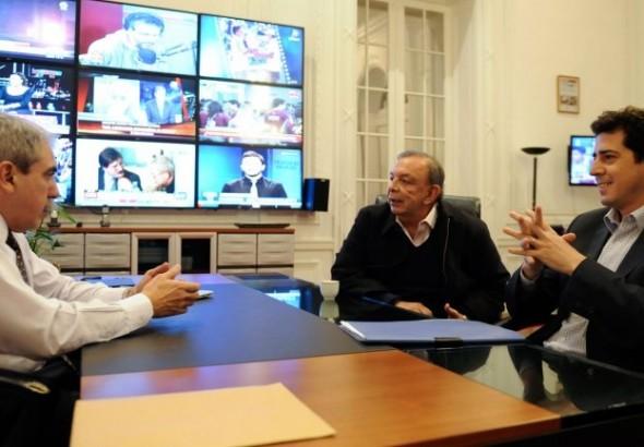 Se llevaron hasta los plasmas: cómo quedó la oficina de Aníbal Fernández