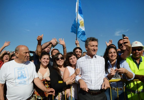 Macri, en la Autovía 7: