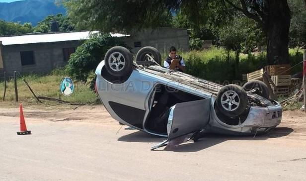Siniestro vial en Valle Viejo