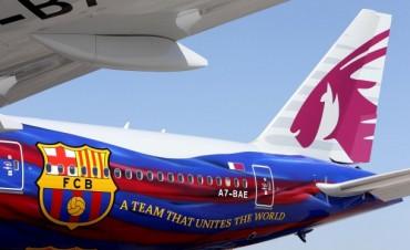El lujoso avión del  Barcelona