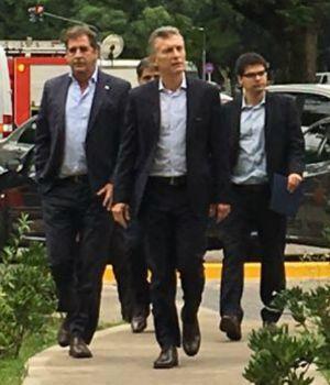 Macri visitó a los policías heridos en el Congreso