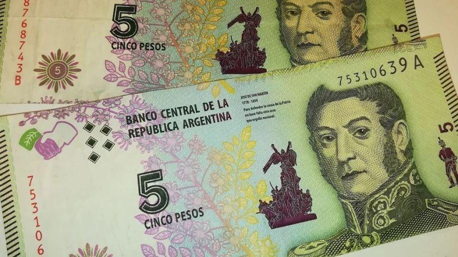 En menos de 40 días los billetes de $ 5 saldrán de circulación