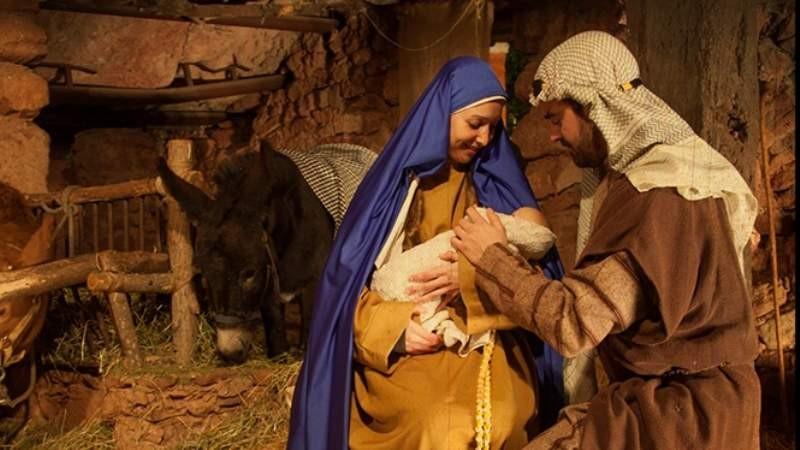 Preparan el pesebre viviente y la misa de Nochebuena