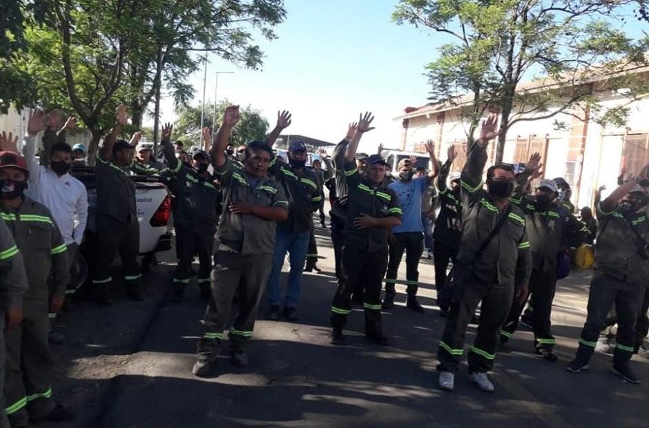 El SOEM volvió a manifestarse, con cortes de calles