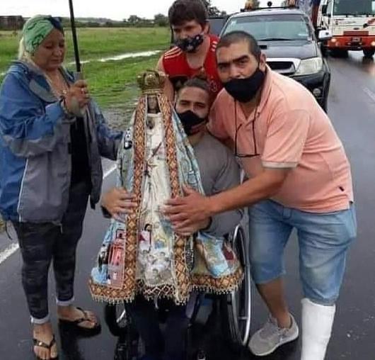 Sorpresa y Emoción: La Virgen del Valle fue al encuentro de René Barrionuevo en el límite con Catamarca