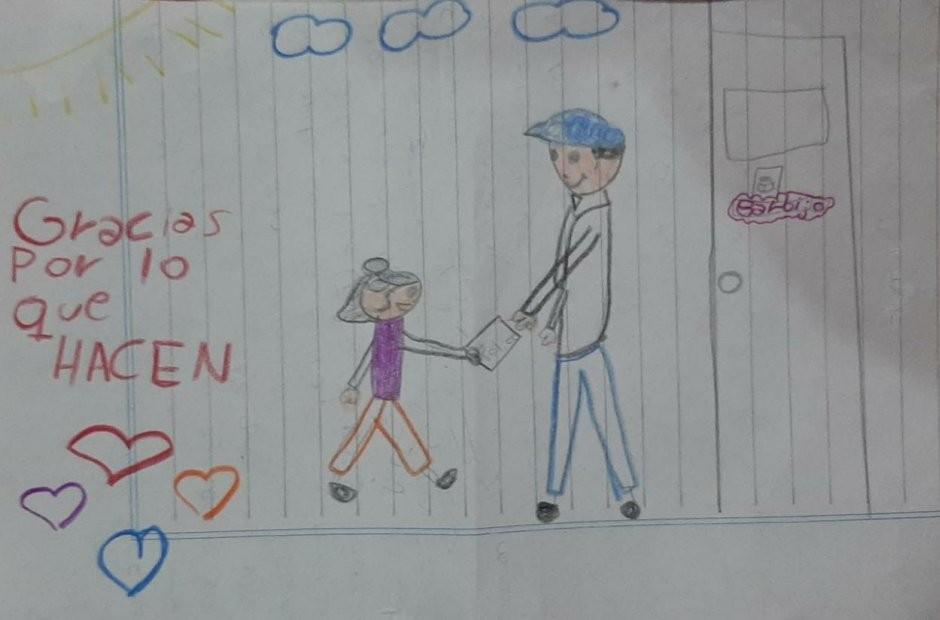 """La tierna carta de Navidad de una niña a los policías de la provincia: """"Gracias por lo que hacen"""""""