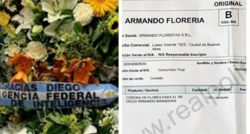 Insólito: Cristina Caamaño le facturó a la AFI una corona de flores en homenaje a Maradona